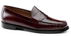 c6ede81f607 NIB BURGUNDY Bass Weejuns LOGAN Leather Penny Loafer  109 Retail 16D ...