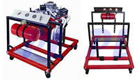 Mobile Engine Motor Testing Test Diagnostic Station Gauge Meters Stand W/ Wheels
