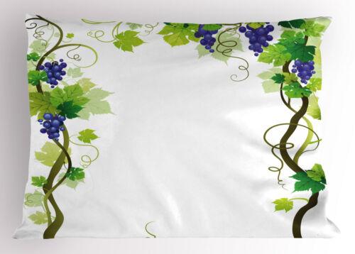 Details about  /Vineyard Pillow Sham Decorative Pillowcase 3 Sizes for Bedroom Decor