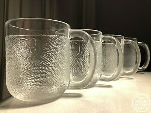 Vintage Iittala Krouvi Beer Mug Set Of 4 Scandinavia Finland Glass Stein 20oz Ebay