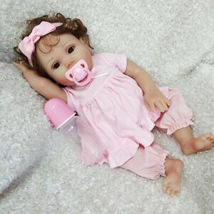 18-034-Reborn-Baby-Doll-Full-Soft-Body-Silicone-Vinyl-Newborn-Toddler-Girl-Dolls-US