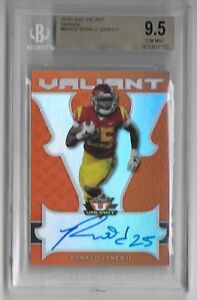 2018-Leaf-Valiant-RONALD-JONES-II-Orange-Prismatic-Auto-RC-19-35-Bucs-RB-BGS-9-5