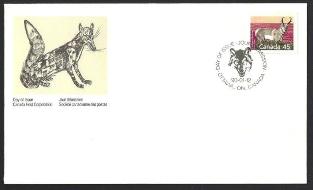 Canada   # 1172      Pronghorn - USA Rates     Brand New 1990 Unaddressed Cover