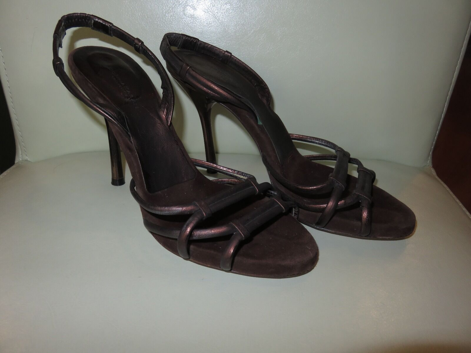 Gorgeous Italian damen Karan collection braun braun braun shimmery sandals Größe 6 bf5ab6