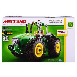 2019 DernièRe Conception Meccano Jeu De Construction Tracteur 8r John Deere Neuf Jouet Pr Cadeau