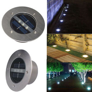 Solar decking path light in ground buried lamp stainless for In ground walkway lights