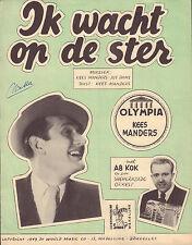 KEES MANDERS - IK WACHT OP DE STER (BLADMUZIEK UIT 1949)