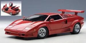 Lamborghini Countach 1990 Version 25ème Anniversaire Rouge 1:18 Autoart Aa74534