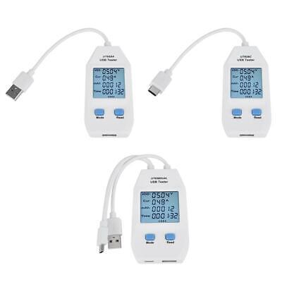 UT658C UT658 USB Tester USB Detector Digital Voltmeter Ammeter Power Capacity Tester Voltage Current Meter