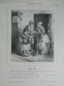 Hippolyte-BELLANGE-Litho-CARICATURE-N-14-Delaporte-Aubert-1830