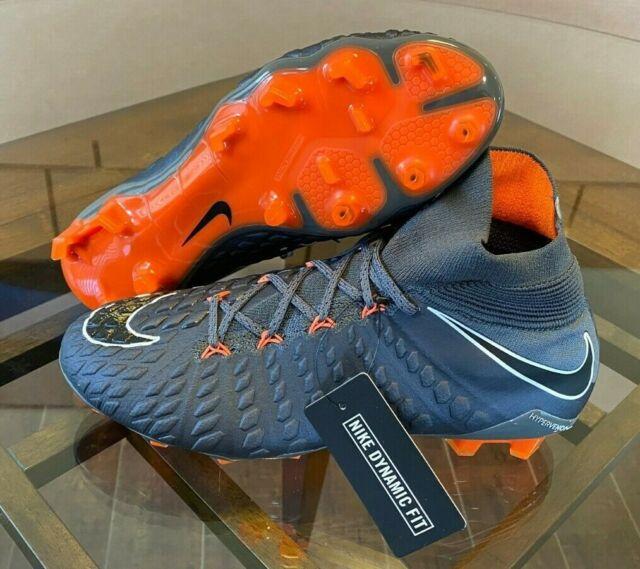 Nike Hypervenom Phantom 3 Elite FG Grey Orange Soccer Cleats Mens 8 / Womens 9.5