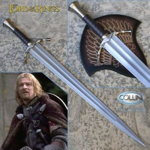 Lord-Of-The-Rings-LOTR-Boromir-Sword-with-Wall-Plaque-Like-Original