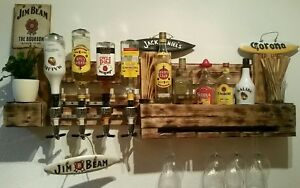 Schnapsregal weinregal palette bar vintage regal schrank europalette sideboard ebay - Weinregal europalette ...