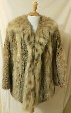 Vintage Canadian Lynx fur coat woman's small medium