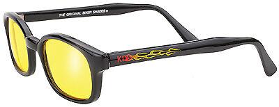 New KD/'s 30112 Sunglasses Black Flame//Yellow Lens