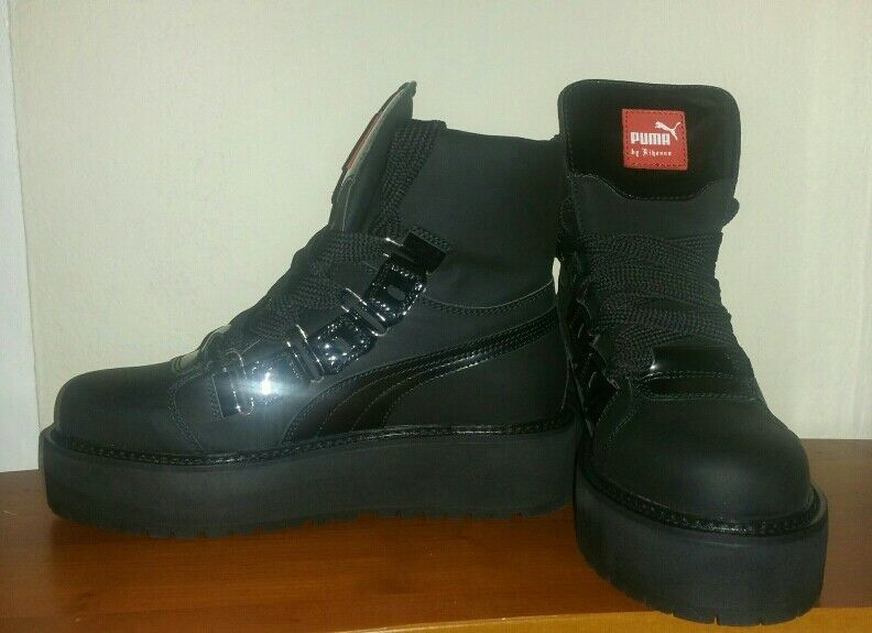 Rihanna sneaker boots size 9 (men's) fit's great for women as well.