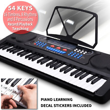 NJS 54 Key USB Digital Electronic Keyboard Inc Microphone and Learning Stickers