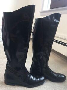 Bottega-Veneta-Riding-Boots-Black-Size-40-With-BOX