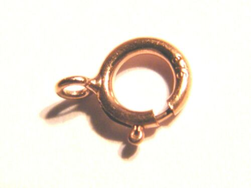 "Heavy-Spring Ring-Findings-Necklace 9ct Rose Gold Bolt Ring Clasp /""Open/"" 4.5mm"