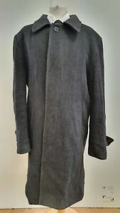 N40-Herren-Galant-Grau-Herringbone-Wolle-Kragen-Mantel-Coat-UK-XXL-EU-58
