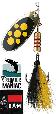 Dam effzett spinner //SILVER RED STRIPE// #2-4g//spinnerbait,lure,predator,pike