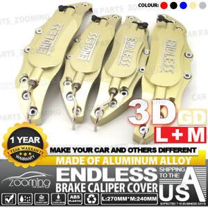 Metal 3D ENDLESS Universal Style Brake Caliper Cover front/&rear 4pcs Silver LW04