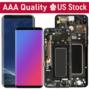 LCD-Replacement-Touch-Screen-Digitizer-Frame-For-Samsung-Galaxy-S8-S9-Plus-S8