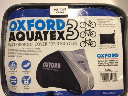 Oxford Aquatex Waterproof Bike Cover 1, 2 or 3 bike Option .