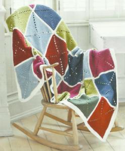 Crochet Patrón de tiro abuela Cuadrado Color En Bloque PDF a correo electrónico o publicar