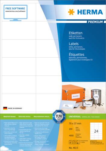 HERMA 4615 Menge nach Auswahl auch für C6-Kuverts Etiketten 70 x 37 mm