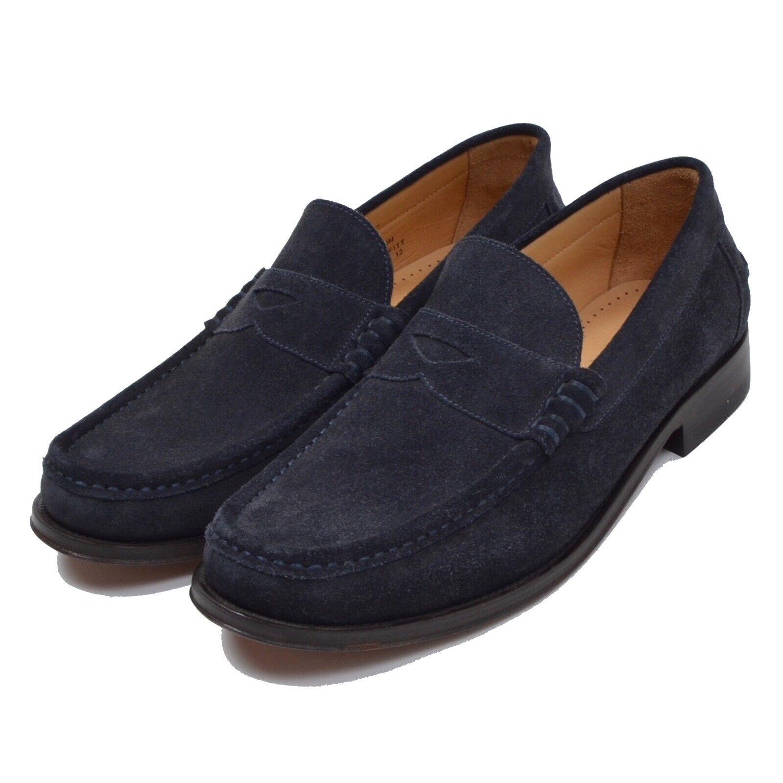 NEU Loake Lifestyle Mocassin Loafer Gr 6 F Wildleder Suede Marineblau Navy Blau
