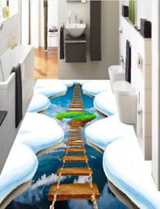 3D Puente Lago de nieve Piso impresión de parojo de papel pintado mural 4 5D AJ Wallpaper Reino Unido Limón
