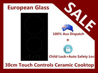 European Glass 30cm Domino 2burner Ceramic Touch Control Electric Cooktop