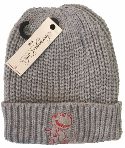 Toddler kids Cuff Foldable Stretchable Warm Winter Knit Beanie Hat Cap