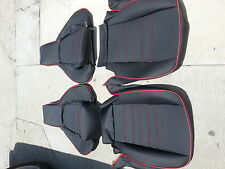 PORSCHE 944 911 951 964 968 85-94 SEAT KIT NEW UPHOLSTERY BLACK CUSTOM