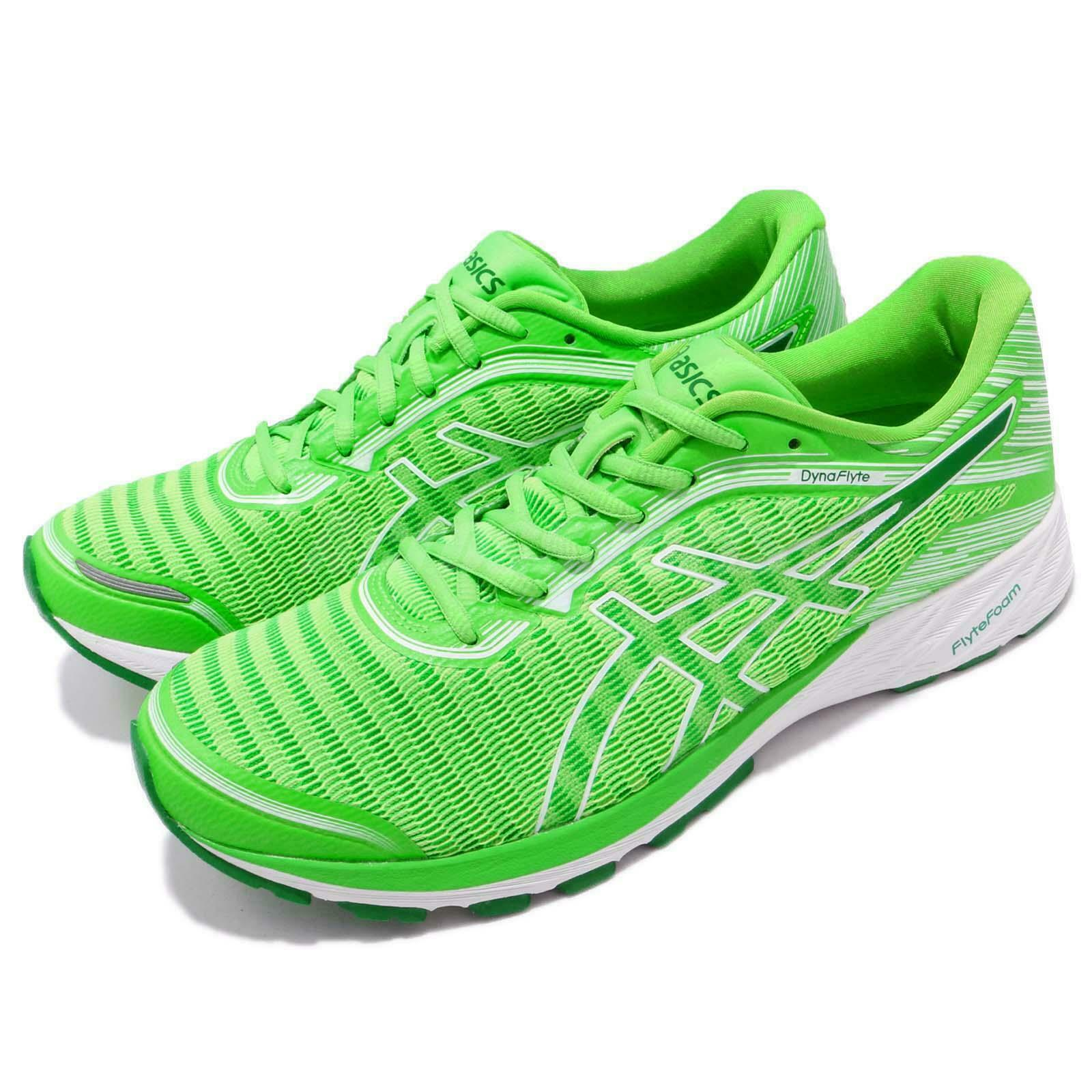 Asics DynaFlyte Flytefoam Green White Men  Running shoes Road Runner T731N-8584  discounts and more