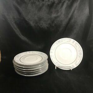 Set-of-7-SHEFFIELD-Porcelain-Fine-China-BLUE-WHISPER-6-Saucers