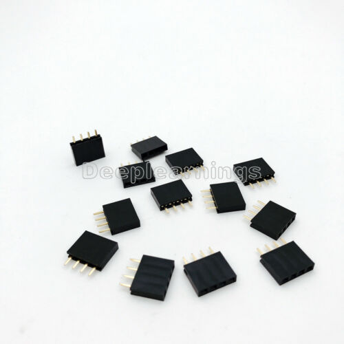 50PCS 1x4 Single Row 4 Pins Pitch 2.54mm PCB Socket Female Header