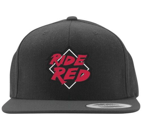 NEUF FACTORY EFFEX HONDA Ride Rouge Snapback Hat Cap Couvercle Snap Arrière Réglable Unique taille s/'adapte à la plupart