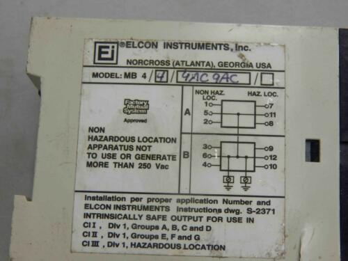 #53 Elcon Instruments MB 4//4//9AC 9AC Multi Barrier Module