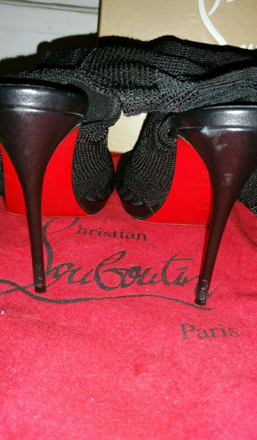 Christian taille Louboutin-Souliers noirs - Cheminene - 35,5 taille Christian fran?aise//US4 c33ea9