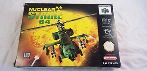 * Nintendo 64 * Nuclear Strike 64 * N64 * NEW Old Stock! * PAL *