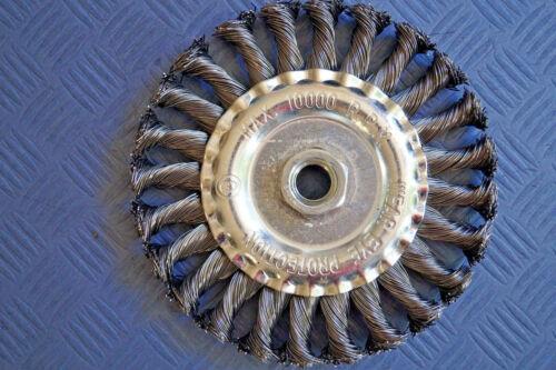 Scheiben Drahtbürste Scheibendrahtbürste gezopft Scheibenbürste 125mm M14 10 St