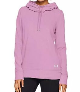 a2b93efe676 Under Armour Women s French Terry Open Back Warm-Up Pink Hoodie Size ...