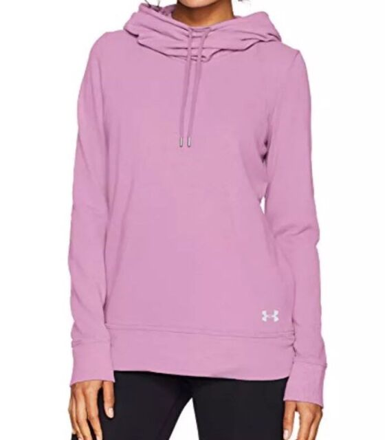 Under Armour Women/'s Icelandic Rose Pink UA French Terry Open Back Hoodie