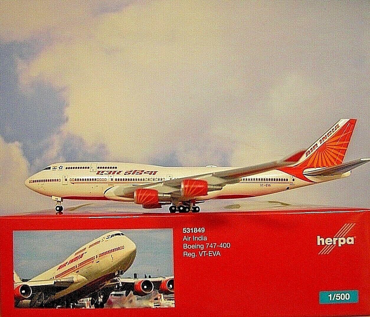 Herpa 1:500 Boeing 707-300 der AIR-INDIA OVP