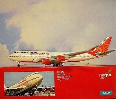 500 Boeing 747-400 Air India VT-EVA 531849 Modellairport500 Alas de Herpa 1