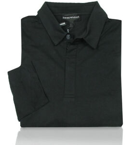 ce972c2413ca Emporio Armani Polo Shirt Regular Fit Black Long Sleeve Fine Jersey ...