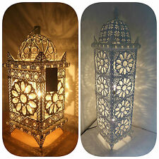 Delightful Item 4 Moroccan Style Floor / Table Lamp Jeweled Cutwork Flower Stunning  Brand New  Moroccan Style Floor / Table Lamp Jeweled Cutwork Flower  Stunning Brand ...
