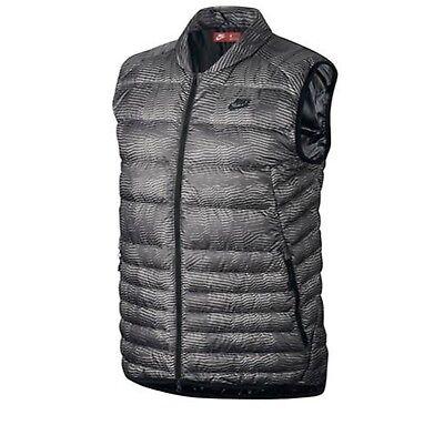Nike Abbigliamento Sportivo Uomo Piumino Fill Stampa Gilet Grigio Packable Calda | eBay